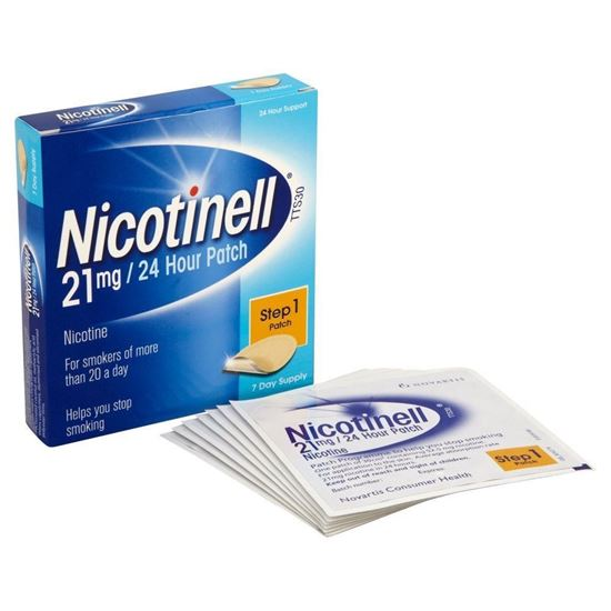 Picture of Nicotinell 24 Hour Patches T.T.S30. 21mg Step 1 7 Patches