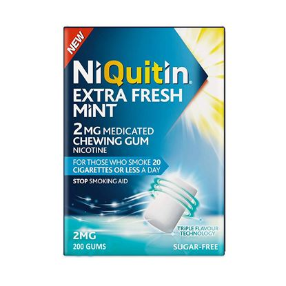 Picture of NiQuitin Extra Fresh Mint Gum, 2mg, 200 Gums