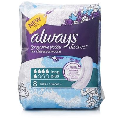 Picture of Always Discreet Long Plus Pads  8