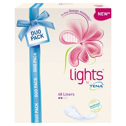 Picture of TENA Lady Lights Long Duo Liner 48s
