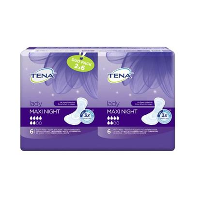 Picture of Tena Lady Maxi Night Duo Pack Pads x12