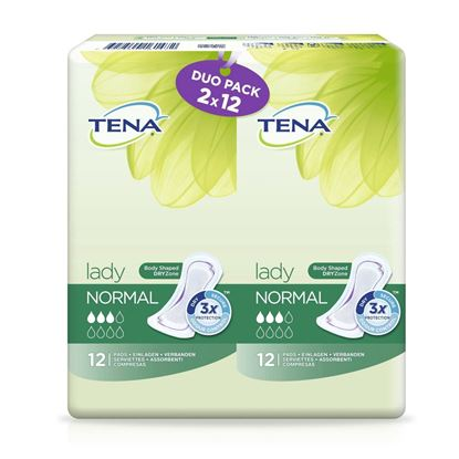 Picture of TENA Lady Normal Towels 24 duo Pack