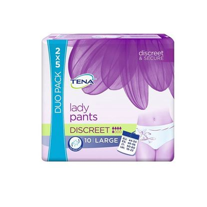 Picture of TENA Lady Pants Discreet Duo Pack Large- 10 Pants