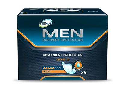 Picture of TENA Men Absorbent Protector Level 3 - Pack of 8 Incontinence Pads