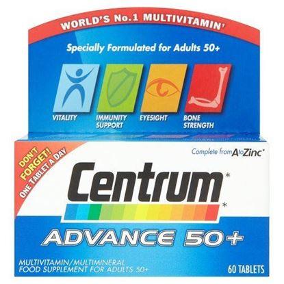 Picture of Centrum Advance 50 Plus Complete A-Z Multivitamins & Minerals, 60 Tablets