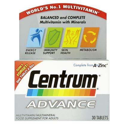 Picture of Centrum Advance Multivitamins 30 Tablets