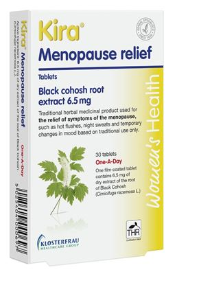 Picture of Kira Menopause Relief Black Cohosh 30 Film Coated Tablets