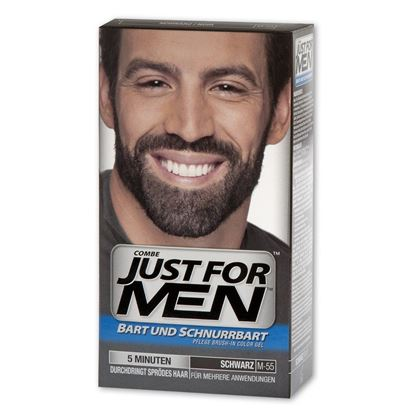 Picture of Just for Men Beard and Moustache Colour Gel Real Black M-55