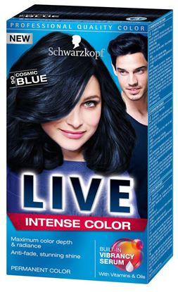 Picture of Live color xxl permanent hair colourant cosmic blue 90