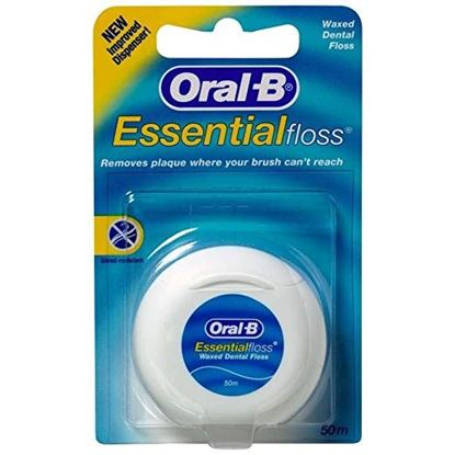 Picture of Oral-b Essentialfloss Waxed Dental Floss 50m