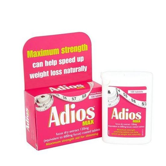 Picture of Adios Max Maximum Strength Weight Loss Tablets - 100 Tablets
