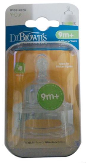 Picture of Dr. Browns 2 Pack Natural Flow Y Cut Wide Neck Nipple
