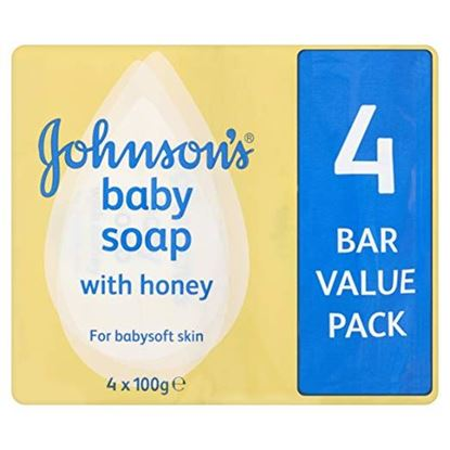 Picture of Johnsons Baby Soap Honey With Baby Lotion 4 Pack