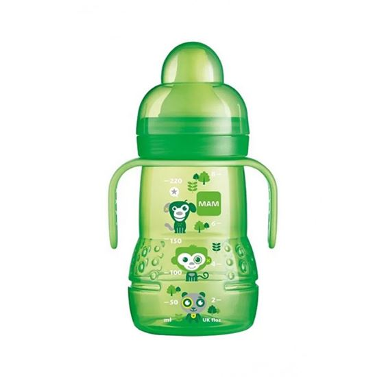 Picture of Mam 220 Ml Trainer Bottle With Handle Green