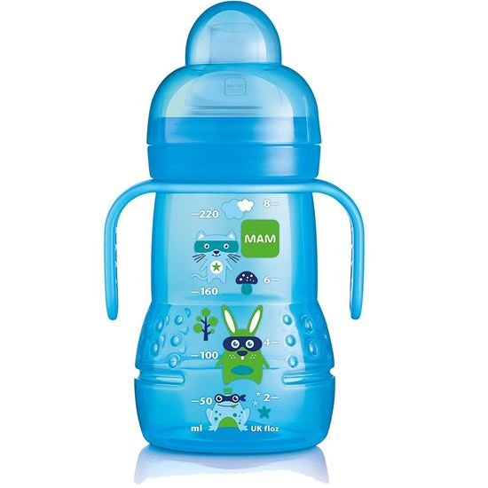 Picture of Mam 220Ml Trainer Bottle With Handle (Blue)
