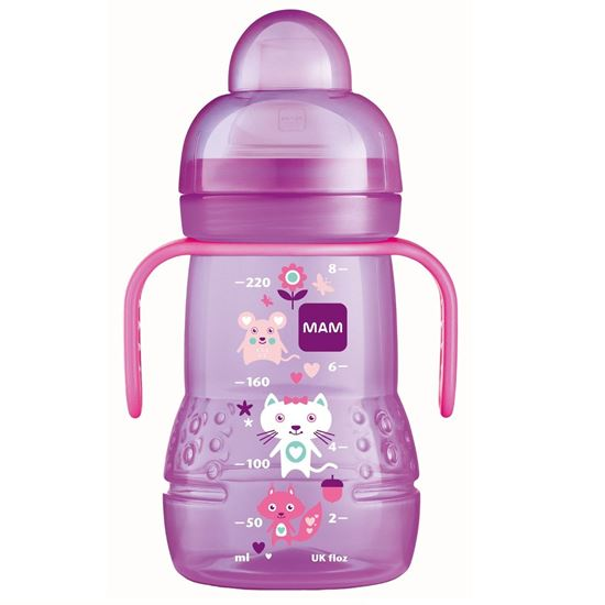 Picture of Mam 220Ml Trainer Bottle With Handle (Pink)