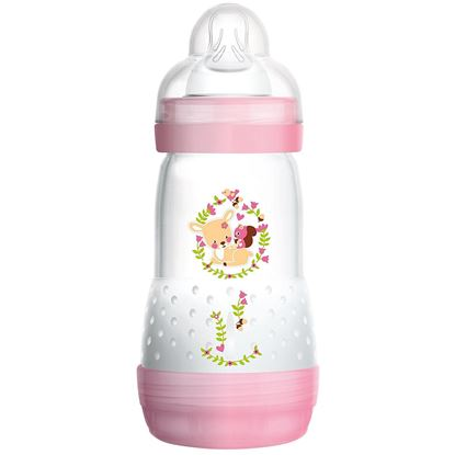 Picture of Mam 260 Ml Self Sterilising Anti Colic Bottles Pink