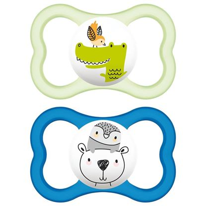 Picture of MAM AIR 6+M SOOTHER GREEN-BLUE