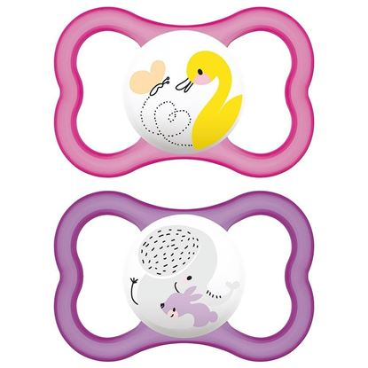 Picture of MAM AIR 6+M SOOTHER PINK-PURPLE