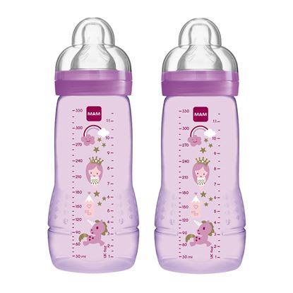 Picture of Mam Baby Bottle 330 ml 2pk Lilac