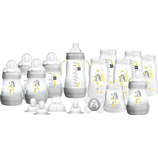 Picture of Mam Bottle Starter Set Easy Start Anti-Colic Bottle Starter Set Grey Large