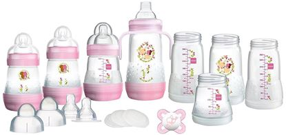 Picture of Mam Bottle Starter Set PINK-15 PIECES