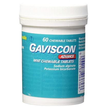 Picture of GAVISCON ADVANCE PEPPERMINT 60
