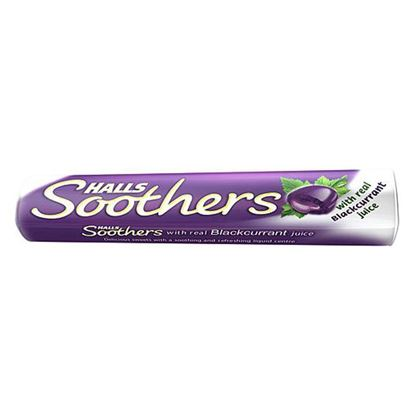 Picture of Halls Soothers Lozenges Blackcurrant 10