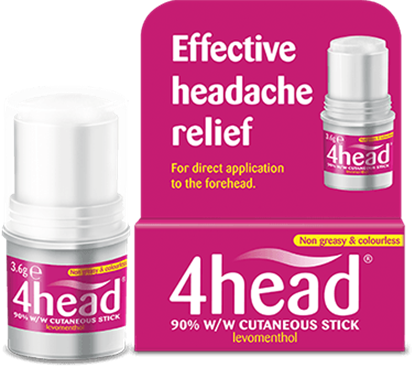 Picture of 4head Headache & Migraine Relief Stick - 3.6g