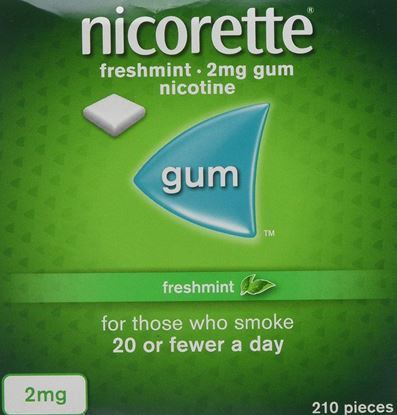 Picture of Nicorette chewing gum freshmint 2mg 210 pack