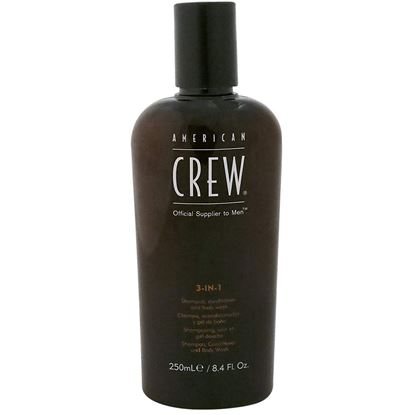 Picture of AMERICAN CREW 3 IN 1 SHAMPOO,CONDITIONER & BODY WASH 250 ML