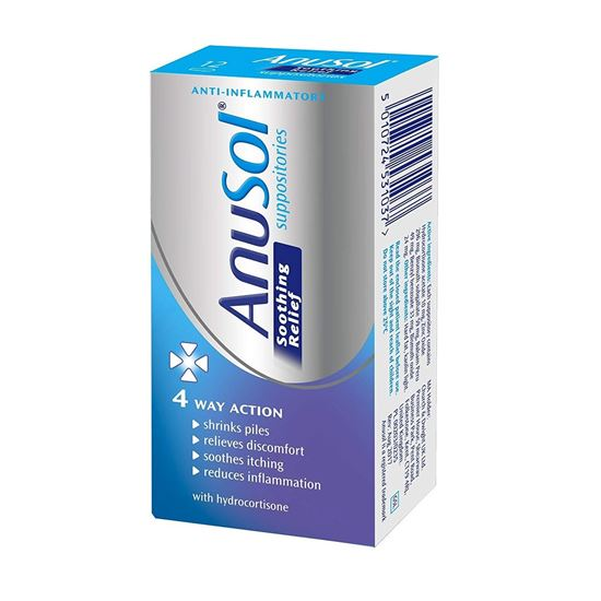 Picture of Anusol Soothing Relief Suppositories 12