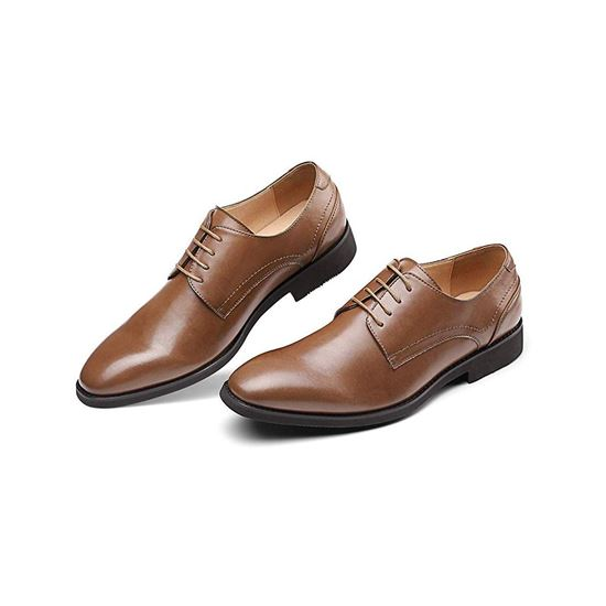Picture of Men's Wingtip Dress Shoes Formal Oxfords 01 Brown