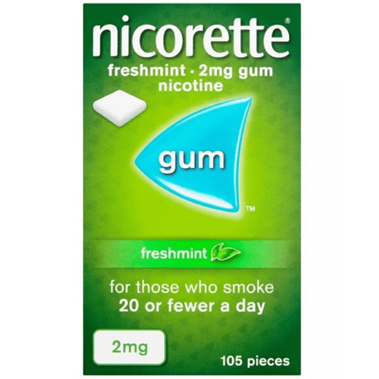 Picture of Nicorette Freshmint 2mg Gum 105 Pieces
