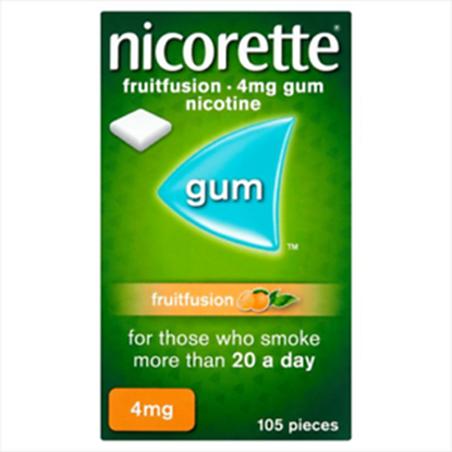 Picture of Nicorette Gum Fruit Fusion 4Mg Pack Of 105