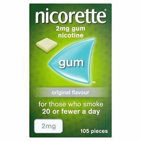 Picture of Nicorette Low Strength Nicotne Gum 2Mg Original Flavour 105 pieces