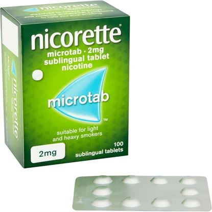 Picture of Nicorette Microtabs 2mg - 100 Tabs