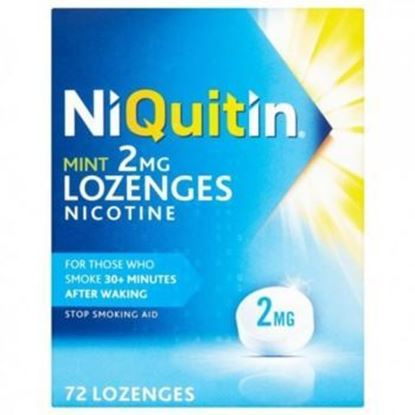 Picture of NiQuitin Mint 2mg Lozenges Nicotine 72 Lozenges