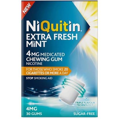 Picture of NiQuitin Extra Fresh Mint 4mg Gum 30 pieces