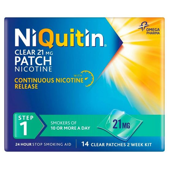 Picture of Niquitin CQ Patches 21mg Clear - 14 step 1