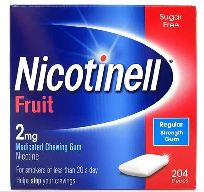 Picture of Nicotinell Fruit 2mg Nicotine Medicated Chewing Gum Sugar 204 Pcs
