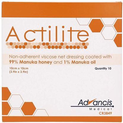 Picture of ACTILITE 10X10CM DRSG CR3849 (HONEY IMPREGNATED TULLE)