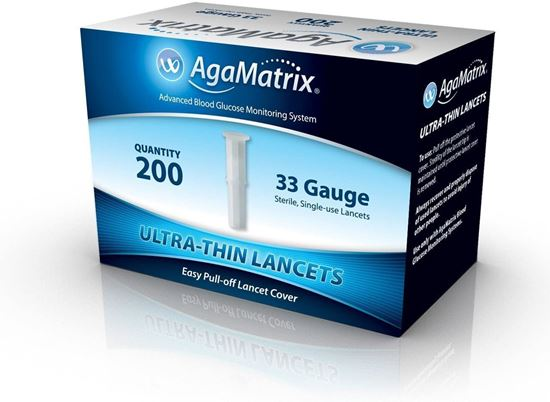 Picture of AgaMatrix Ultrathin Lancets 33G 200 Pack