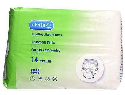 Picture of Alvita Incontinence Absorbent Pants Medium Night - Pack of 14