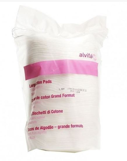 Picture of Alvita Large Cotton Pads 100% Pure Cotton 50 Pads