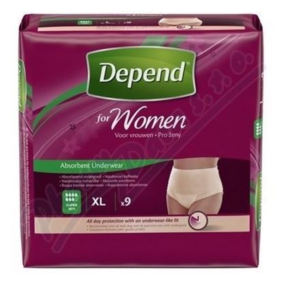 Picture of Depend Comfort Protect Incontinence Pants for Women, Extra-Large - 9 Pants