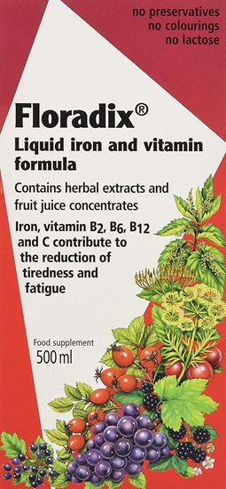 Picture of Floradix Liquid Iron Formula 500ml