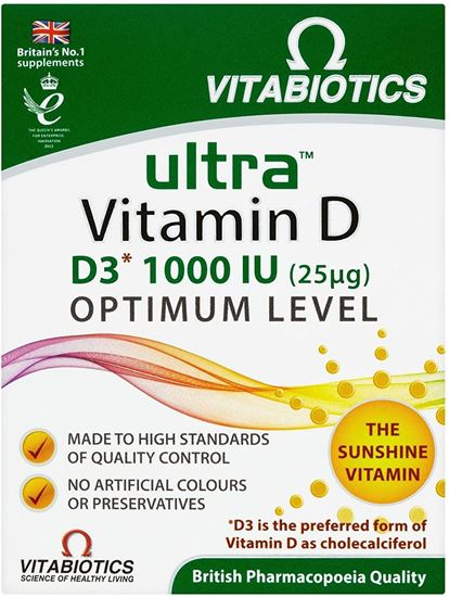 Picture of Vitabiotics Ultra Vitamin D Optimum Level 96 Tablets