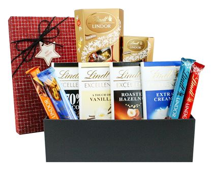 Picture of Chocolate Hamper Gift Velvet Gift Box Present for All Occassions - Favourite Lindt Treats Set 4