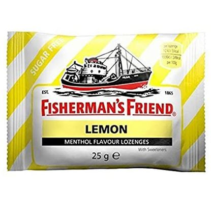 Picture of Fisherman's Friend Lozenges Lemon Sugar-Free with Sweeteners 25g